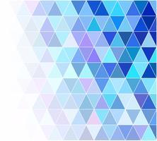 Fond de mosaïque grille bleue, modèles de conception créative vecteur