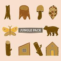 illustration et vecteur de pack élément jungle