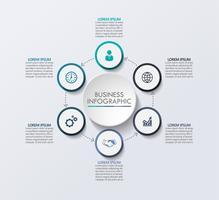 Visualisation de données commerciales. icônes d'infographie de chronologie conçues pour le modèle abstrait