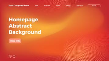 page d'accueil fond de maille de couleur fluide. Modèle de page de destination en dégradé