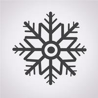 flocon de neige icône symbole signe vecteur