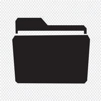 Signe de symbole icône dossier vecteur