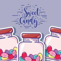 délicieux bonbons sucrés avec une texture délicieuse vecteur