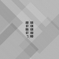 Carrés géométriques gris abstraits qui se chevauchent avec la texture du motif lignes diagonales et arrière-plan. vecteur