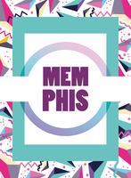 Modèle Memphis et arrière-plan
