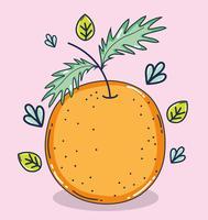 Caricature de fruits orange