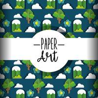 Fond d'art en papier vecteur