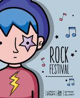 festival de rock concert musique événement vecteur