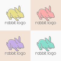 vecteur de conception de logo lapin