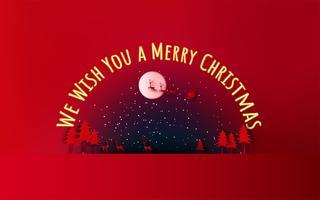 Joyeux Noel et bonne année. Vente de Noël. Fond de vacances. style d'artisanat en papier. vecteur