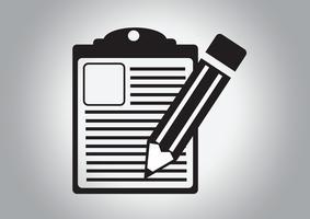 icône de la liste de contrôle Symbole
