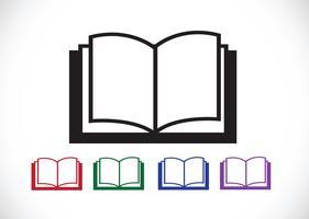 Livre Icône Symbole Signe vecteur