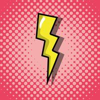 patchs de mode pop art thunder vecteur