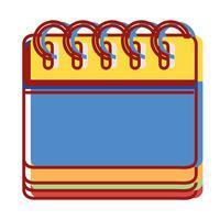 informations de calendrier pour la journée de l'organisateur vecteur
