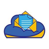 données en nuage et carte avec informations de document