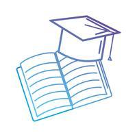 graduation casquette et objet bloc-notes