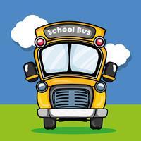 conception de transport d'autobus scolaire à l'élève vecteur