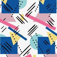 couleurs géométriques chiffres fond de style memphis vecteur