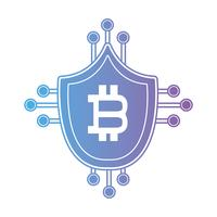 blindage de bitcoin de ligne avec circuits électroniques