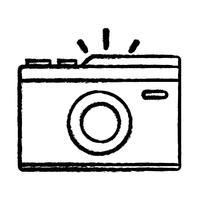 figure appareil photo numérique pour prendre une photo d'art vecteur