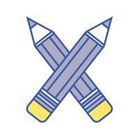 crayons couleurs école outil design objet vecteur