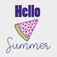 Bonjour les dessins animés de l'été vecteur
