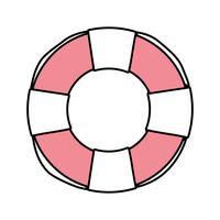 bouée de sauvetage objet à la sécurité d'urgence vecteur