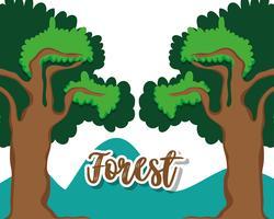 Beau paysage de forêt vecteur