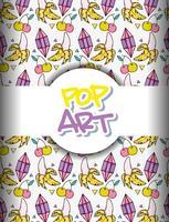 Fond de pop art vecteur