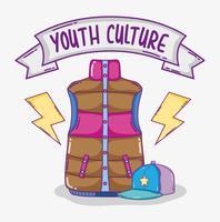 Dessins animés de culture jeunesse vecteur