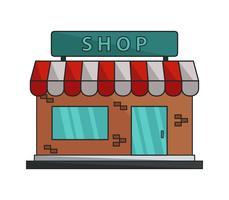 Icône de la boutique sur fond blanc vecteur