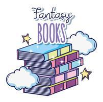 Livres fantastiques et magiques vecteur