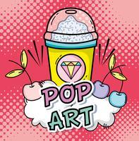 Concept de dessins animés pop art vecteur