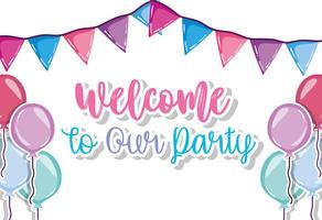 Bienvenue à notre fête vecteur
