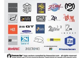 2 logos vecteur