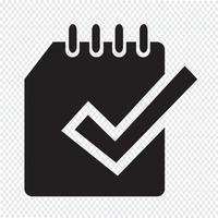 Signe symbole icône Notebook