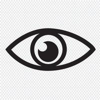 Signe symbole icône oeil vecteur