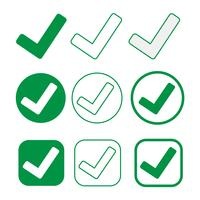 Simple tick icône accepter approuver signe vecteur