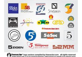 Cinq logos vecteur