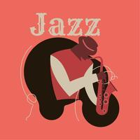 Art abstrait de jazz pour affiche