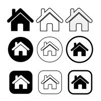 symbole de la maison simple et signe de l'icône de la maison