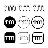 Signe de symbole icône de marque de commerce vecteur