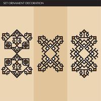 Lignes d'ornement élégantes japonaises, calligraphiques et aztèques de luxe vecteur