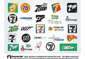 Sept Logos vecteur