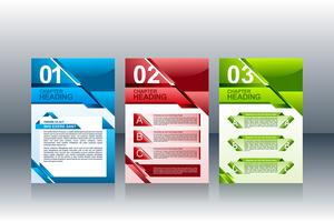 Conception de mise en page de brochures de modèles Flyer