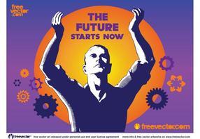 Affiche technologique future vecteur