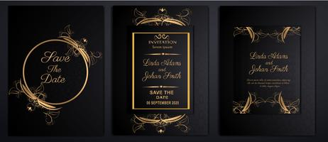 cartes d'invitation de mariage de luxe