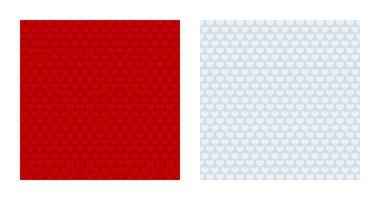 Arrière-plans à motifs de coeur rouge et blanc vecteur