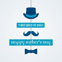 Bannière fête des pères vecteur