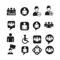 jeu d'icônes de personnes Illustration vecteur